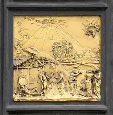 Ghiberti's Panel Of Noah Print by Sheila Terry