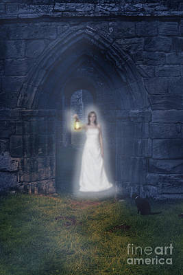 Ghost At The Abbey Print by Amanda Elwell