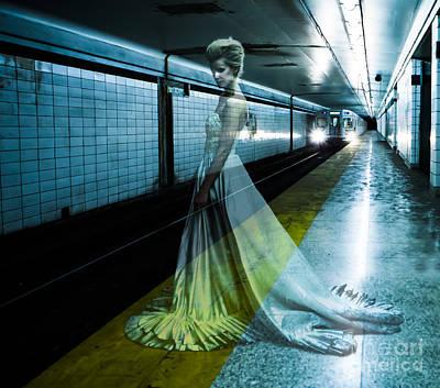 London Tube Digital Art - Ghost Bride by Diane Diederich