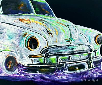 Car Painting - Ghost Car by Eloise Schneider
