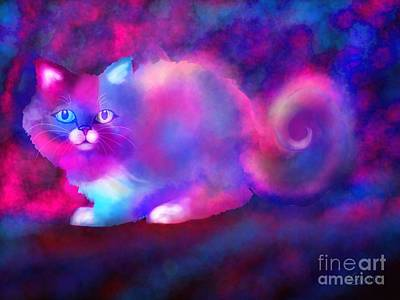 Ghost Cat 2 Print by Nick Gustafson