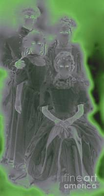 Ectoplasm Photograph - Ghost Family Portrait by First Star Art