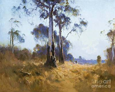 Boyd Painting - Ghost Gum At Kangaroo Flat by Pg Reproductions