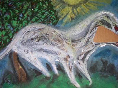 Optimistic Drawing - Ghost Horse by Jonathon Hansen
