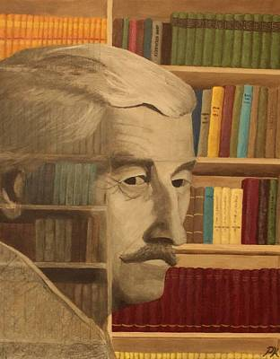 Ghost In The Library  William Faulkner Print by Patrick Kelly