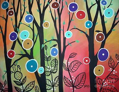Blackbird Painting - Ghost Leaves by Karla Gerard