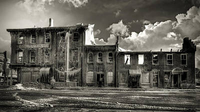 Creepy Photograph - Ghost Of Our Town by Jaki Miller