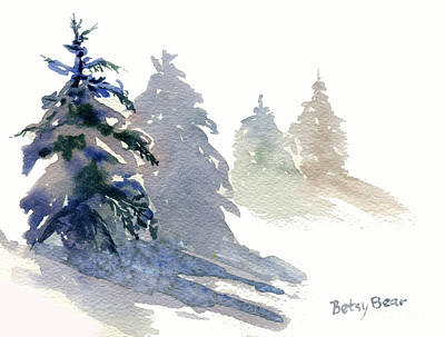 Ghost Spruce Print by Betsy Bear
