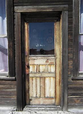 Ghost Town Handcrafted Door Print by Daniel Hagerman