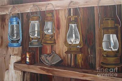Ghost Town Lanterns Original by Wendy Russell