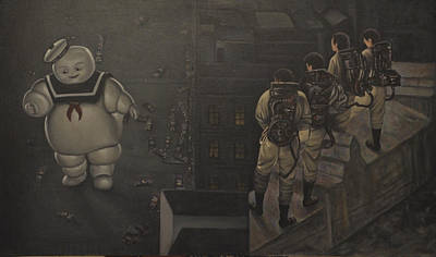 Ectoplasm Painting - Ghostbusters by Riard