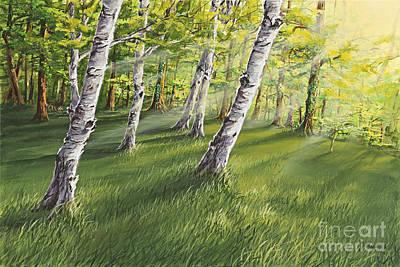 Ghosts In The Woods Original by Joe Mandrick