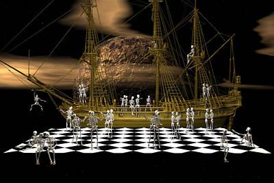 Ghostship Gala 2 Print by Claude McCoy