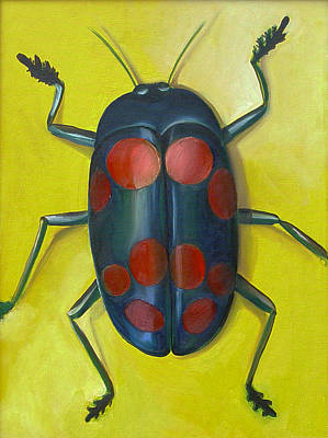 Fungi Painting - Giant Fungus Beetle by Laura Dozor