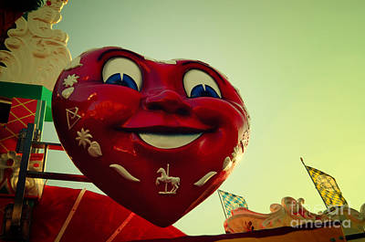 Muenchen Photograph - Giant Heart At The Octoberfest In Munich by Sabine Jacobs