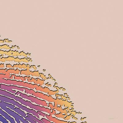 Giant Iridescent Fingerprint On Salmon Roe Pink Set Of 4 - 2 Of 4 Original by Serge Averbukh