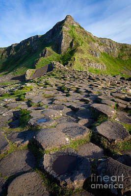 Giant's Causeway Green Peak Print by Inge Johnsson