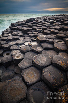 Giant's Causeway Pillars Print by Inge Johnsson