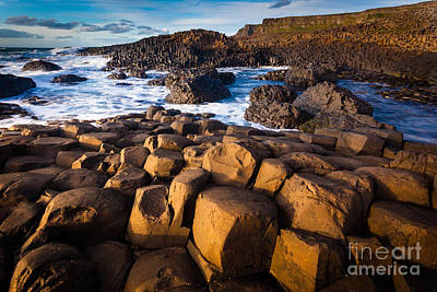 Giant's Causeway Surf Print by Inge Johnsson