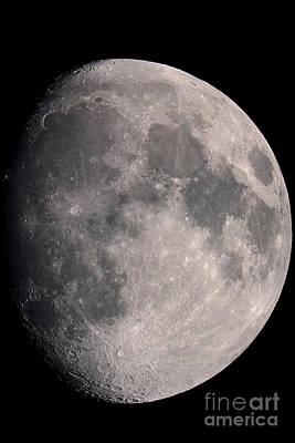 Gibbous Moon And Lunar Landscape, 2013 Print by John Chumack