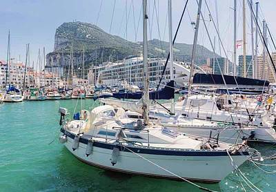 Gibraltar.   Marina Bay Print by Ken Welsh