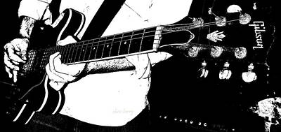 Gibson Guitar Graphic Print by Chris Berry