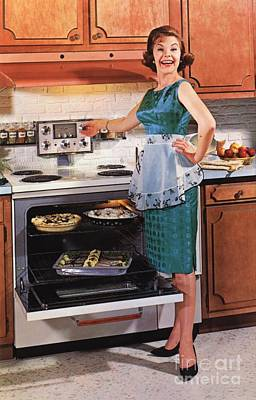 Nineteen-fifties Drawing - Gibson Ultra 600 1950s Usa Cooking by The Advertising Archives