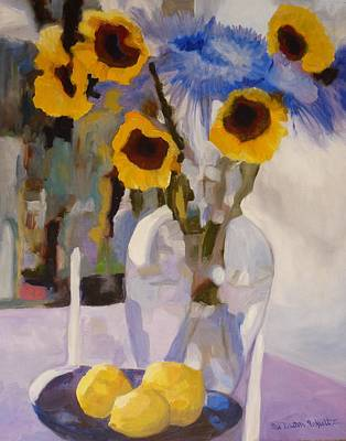 Mums Painting - Gifts Of The Sun by Susan Duda