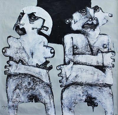 Gigantes No. 4 Original by Mark M  Mellon