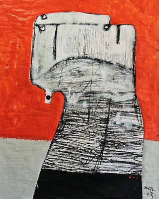 Red Head Mixed Media - Gigantes No. 8 by Mark M  Mellon