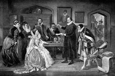 Electrical Engineer Photograph - Gilbert Shows Electricity To Elizabeth I by Science Photo Library
