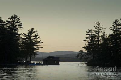 Contemplative Photograph - Gilford Harbor Boathouse by David Gordon