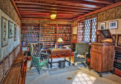 Woodcarving Photograph - Gillette Castle Library by Susan Candelario