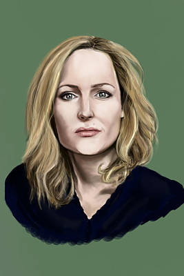 Gillian Digital Art - Gillian Anderson by Danielle Moit