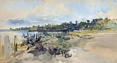 Kent Painting - Gillingham Kent From The Medway by William James Muller