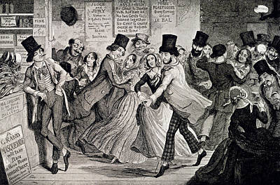 Gin-shop To Dancing-room Print by British Library