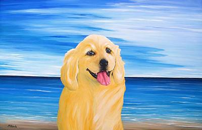 Cocker Spaniel Painting - Ginger by Mark Alan Roberts