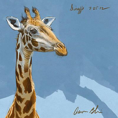 Blaise Digital Art - Giraffe by Aaron Blaise