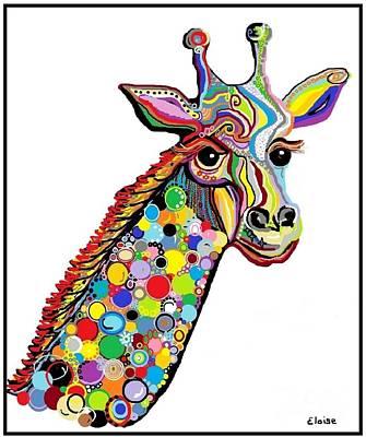 Whimsical Painting - Giraffe by Eloise Schneider