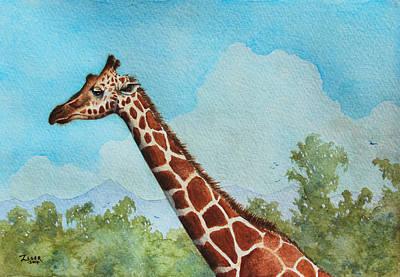 Baby Giraffe Painting - Giraffe II by James Zeger