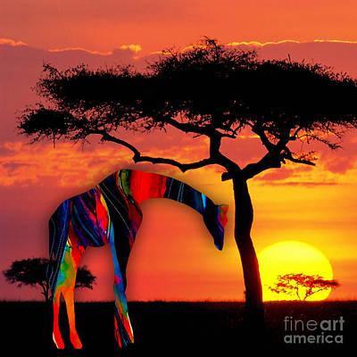 Giraffe Mixed Media - Giraffe by Marvin Blaine