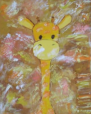 Baby Giraffe Painting - Giraffe by Natallia Maseyeva