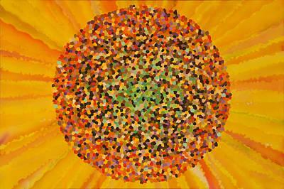 Flower Painting - Girasol by LorZ Arte