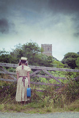 Girl At Gate Print by Joana Kruse