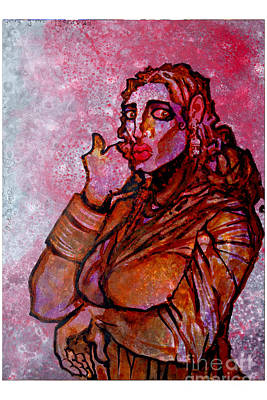 Girl From Hydrabad Print by Sumit Banerjee