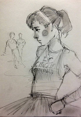 Tutus Drawing - Girl by H James Hoff