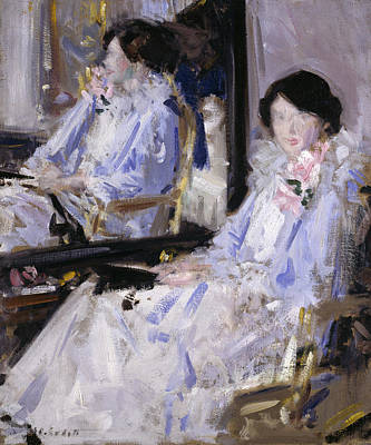 Girl In Blue Print by Francis Campbell Boileau Cadell