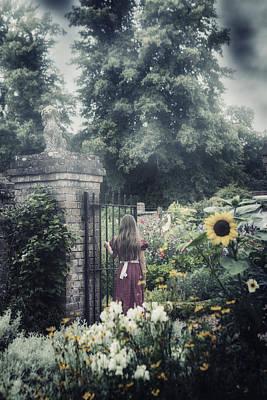 Girl In Gardens Print by Joana Kruse
