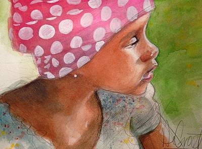 Girl In Pink Bandanna Original by Gregory DeGroat