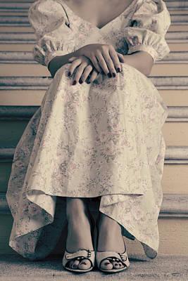 Girl On Steps Print by Joana Kruse